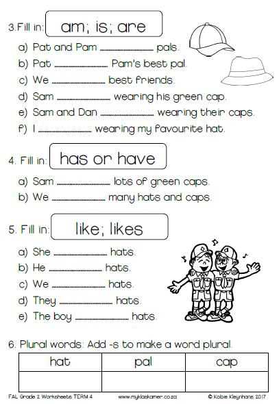 Grade 4 worksheets english language
