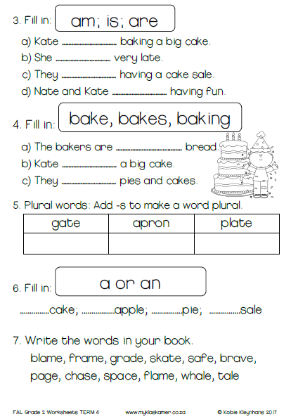 30 English Worksheet For Grade 2 - Free Worksheet Spreadsheet