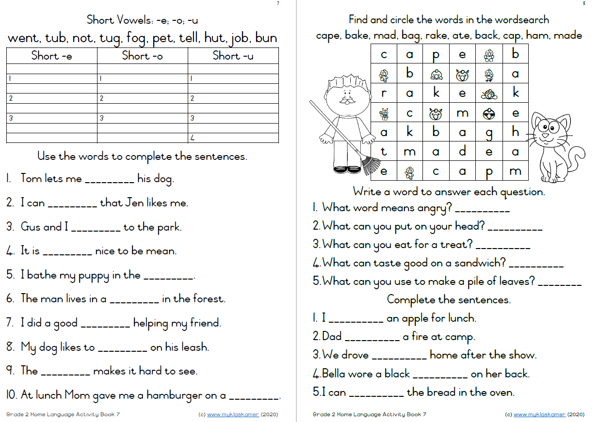 Grade 2 English Home Language Term 3 Activity Book 7-9 ...